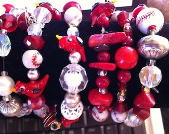 World Champion Baseball Cardinals Bangle Beaded Bracelets