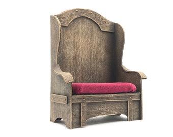 Throne Chair Loveseat Miniature dollhouse 1:12 scale