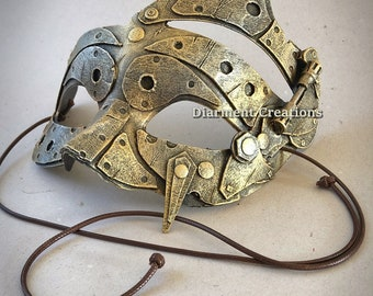 Steampunk Mask Old Gold