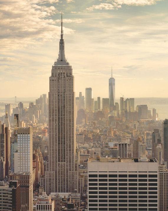 New York City Photography Empire State Building Manhattan Nyc Architecture Skyline Dusk Empire 8 X 10
