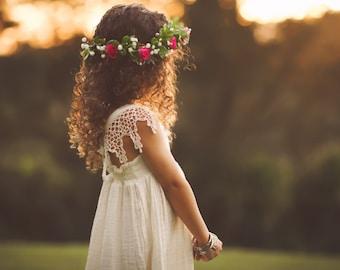 Boho Flower Girl Dress or Photoshoot Dress