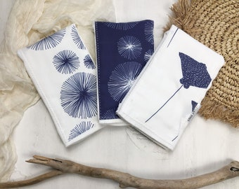 Baby Burp Cloth Set of 3 - Ocean Themed Baby Gift Set - Boutique Baby Gift - Layette Gift - Hawaii Baby - bitty bambu