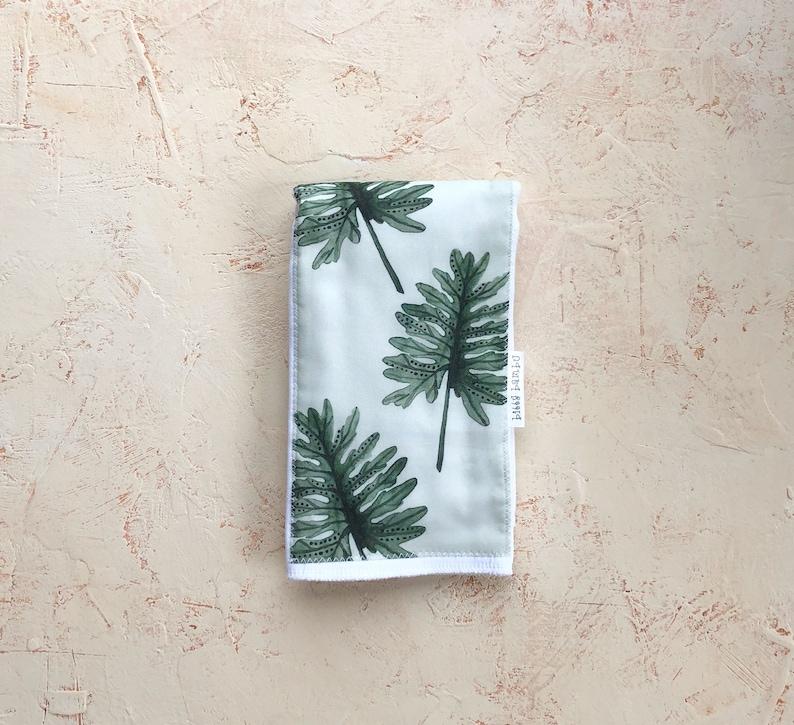 Made in Maui Layette Gift- /'Laua/'e Fern Leaf/' Baby Burp Cloth Hawaii USA