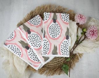 Baby Burp Cloth - Layette Gift- 'Pitaya' Made in Maui, Hawaii USA