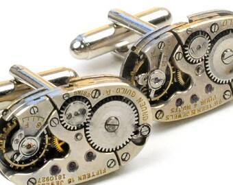 vintage Gruen Guild Watch Steampunk Cuff Links