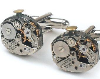 Antique Girard Perregaux Watch Movement Steampunk Cuff Links