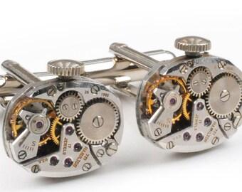 1950's Hamilton Watch Movement Steampunk Cuff Links