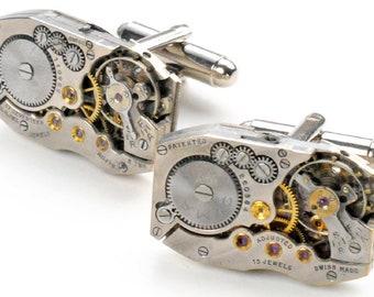 Steampunk Antique Watch Movement Cuff Links