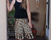Hippie Kids pants-size 7-8 -Rust Green -Shown on 10 year old-girls boho pants-children's clothing,children's pants,kids pants,Karate pants
