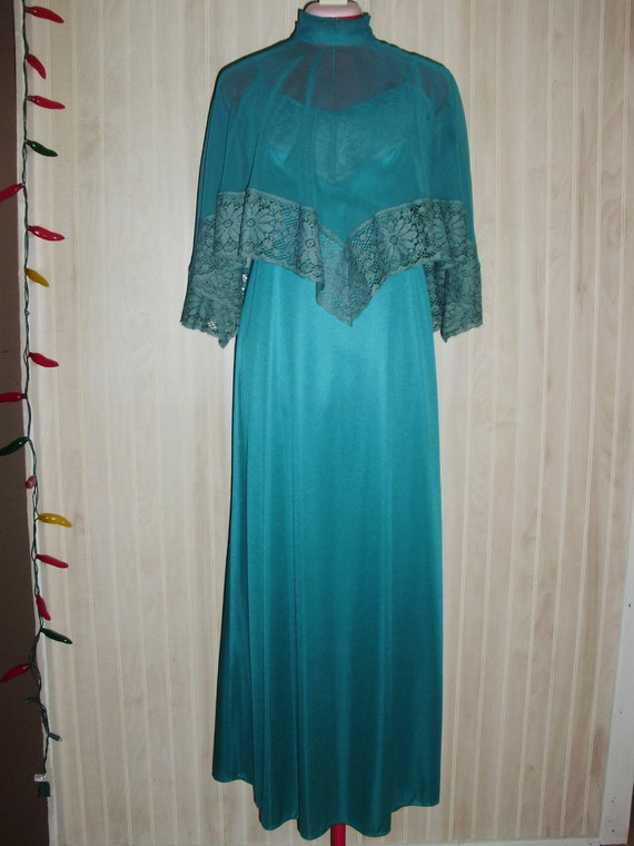Vintage Ladies Formal Dress with Cape