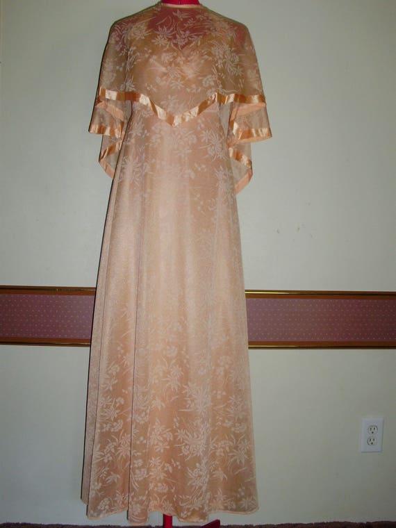 Vintage Formal Halter Dress with Cape