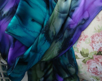 Silk Scarf, Hand Dyed, Hand Painted, Terra Firma NEW Scarf, Gift for Women
