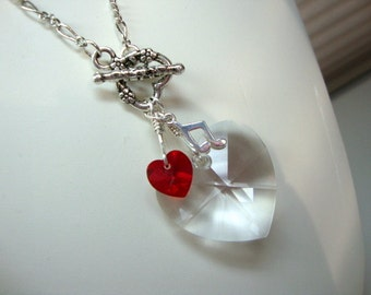 Twilight inspired Edward's Lullaby for Bella Necklace