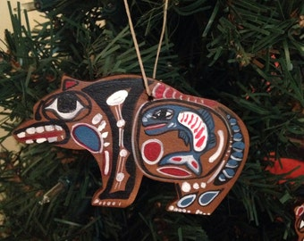 Pacific Northwest Style Bear Ornaments