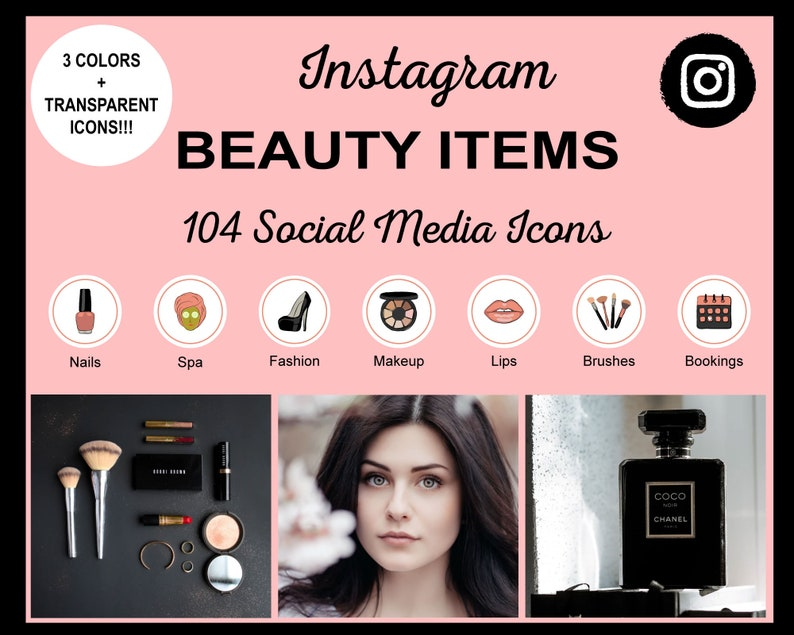 Beauty Items Instagram Story Highlight Icons  Beauty Items image 0