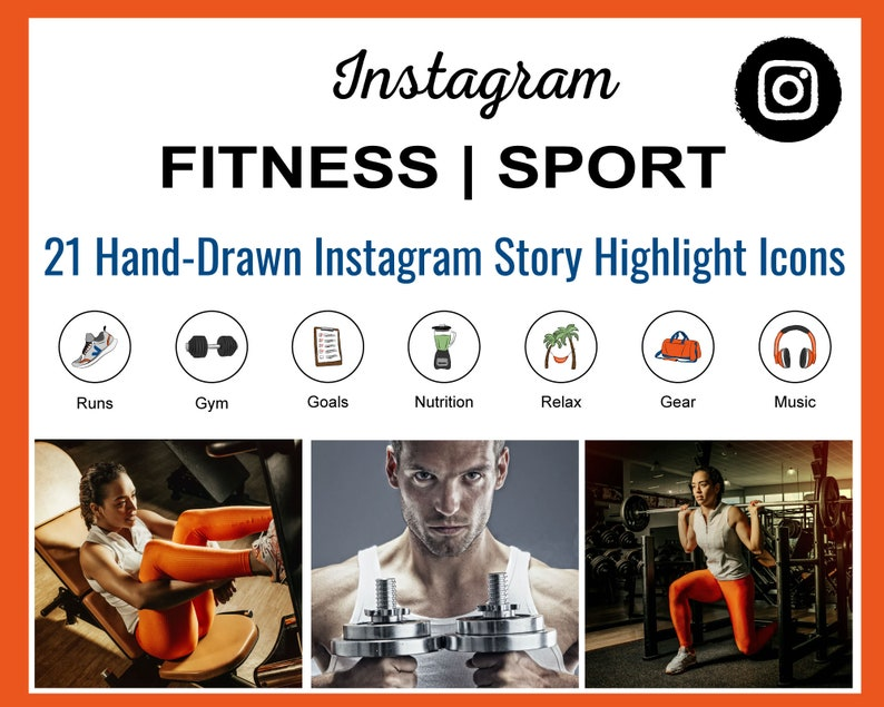 Fitness Items Instagram Story Highlight Icons  Fitness Items image 0