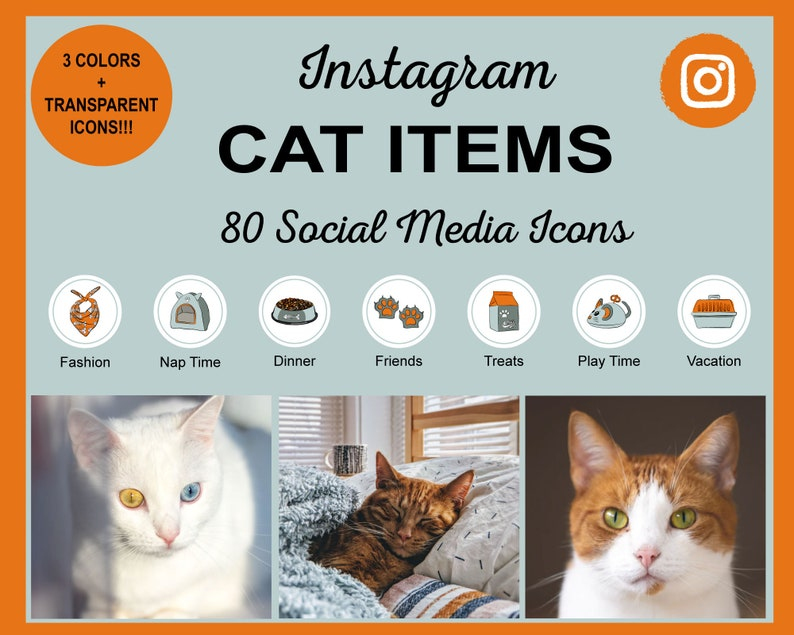 Cat Items Instagram Story Highlight Icons  Cute Cat Items image 0