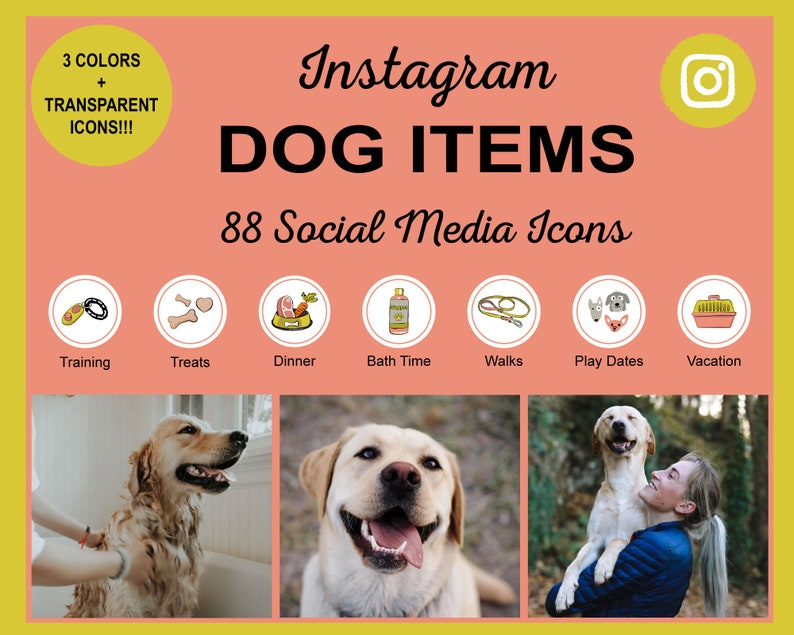 Dog Items Instagram Story Highlight Icons  Cute Dog Items image 1