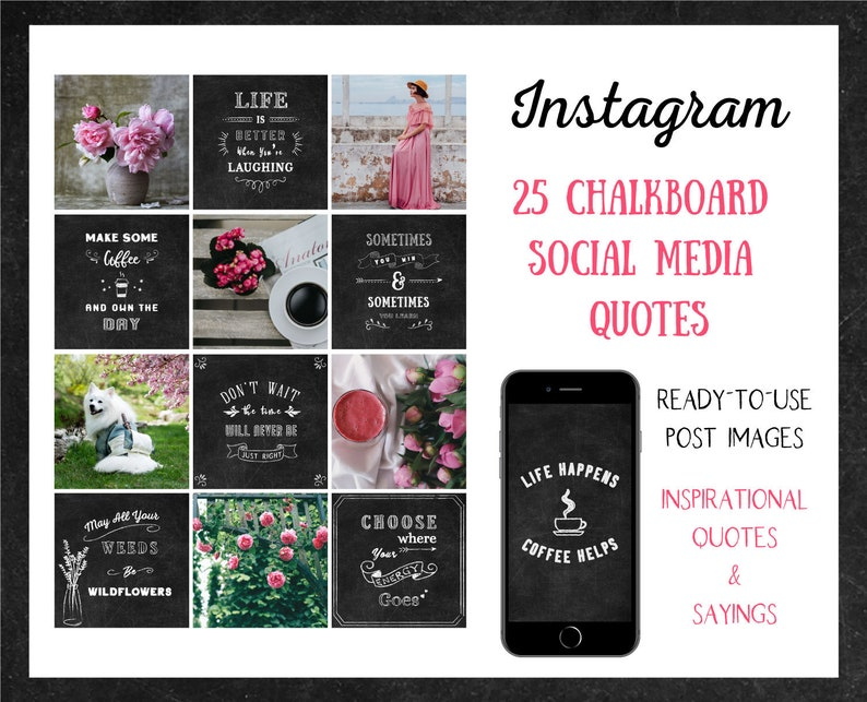 25 Chalkboard Instagram Inspirational Quotes  Sayings  image 0