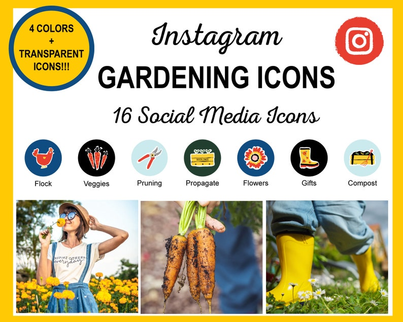 80 Gardening Instagram Story Highlight Covers  Ready to Use image 0