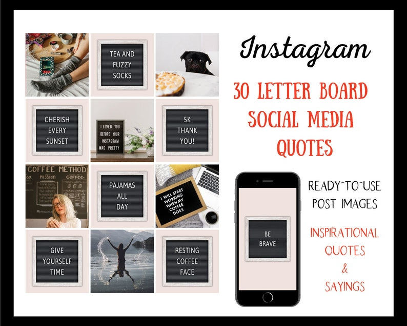 30 Letter Board Instagram Inspirational Quotes  Sayings  image 1