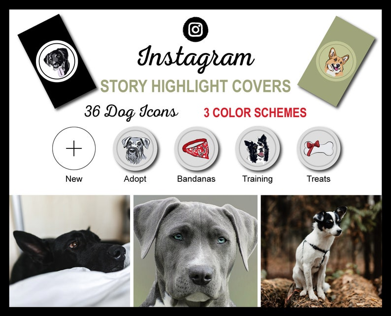 Instagram Story Highlight Icon Covers  Dog Breed Collection  image 1
