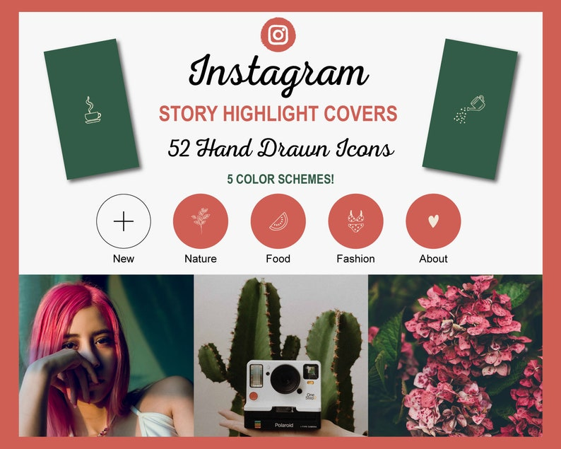 Hand Drawn Instagram Story Highlight Cover Icons  260 Ready image 0