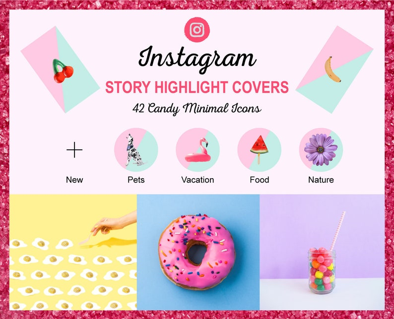 Instagram Story Highlight Icon Covers  Candy Minimal  Ready image 0