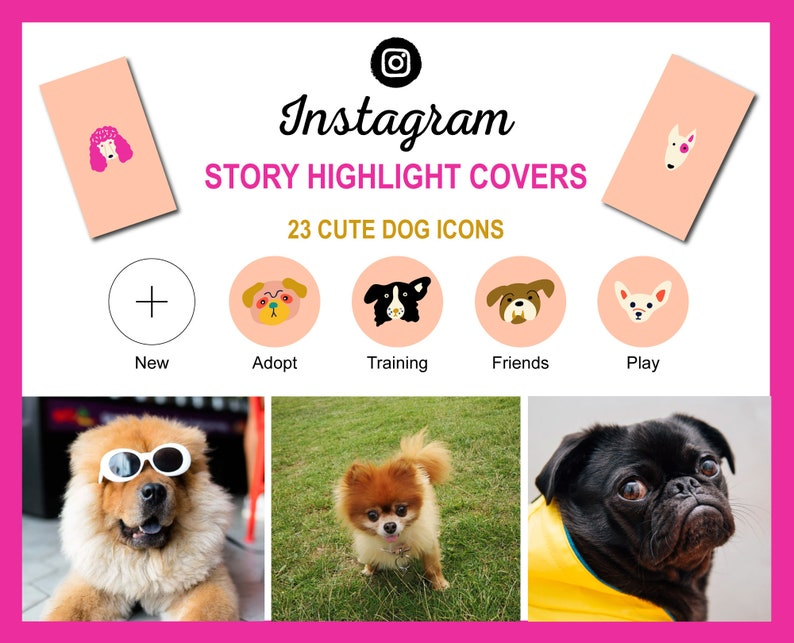 Instagram Story Highlight Dog Icon Covers  Cute Dog Breed image 0