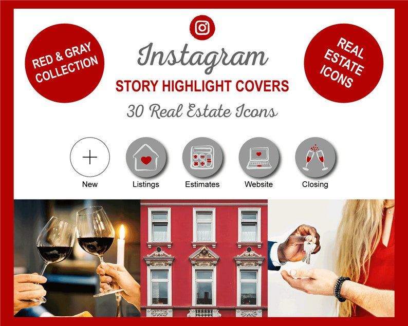Real Estate Instagram Story Highlight Cover Icons  Realtor image 0