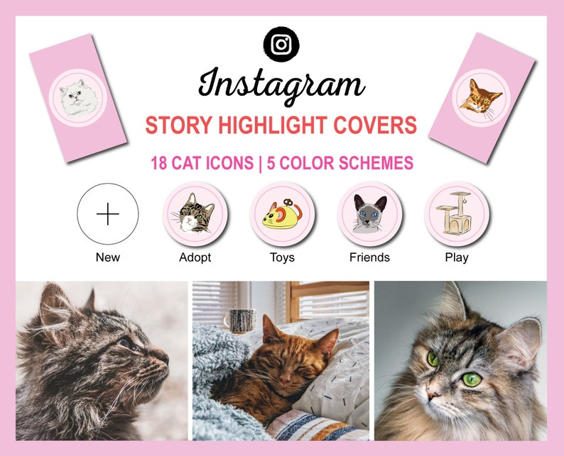 Instagram Story Highlight Icon Covers  Cat Breed Collection  image 0