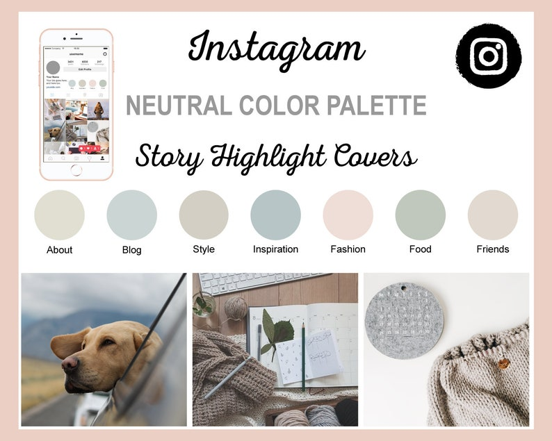 Neutral Color Scheme Instagram Story Highlight Covers  15 image 0