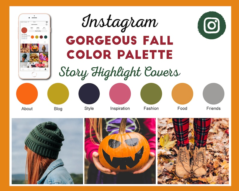 Fall Autumn Color Scheme Instagram Story Highlight Covers  28 image 0