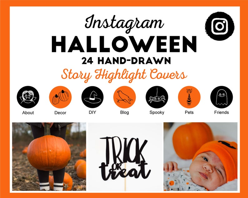 24 Halloween Instagram Story Highlight Cover Icons  Ready to image 0