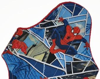 Moderate Core- Spiderman Reusable Cloth Maxi Pad- WindPro Fleece- 10 Inches (25.5 cm)