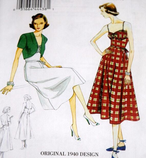 Bolero señoritas: vestido y moda Vintage modelo V8812 Repro | Etsy
