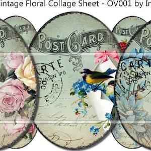 Digital sheets 2 Vintage Summer \u2013 40mm x 30mm Ovals