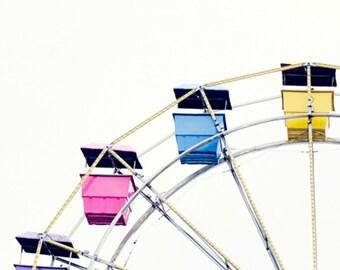 Ferris Wheel Photography, Ferris Wheel Print, Ferris Wheel, Fine Art Photography, Gallery Wall Art, Photography