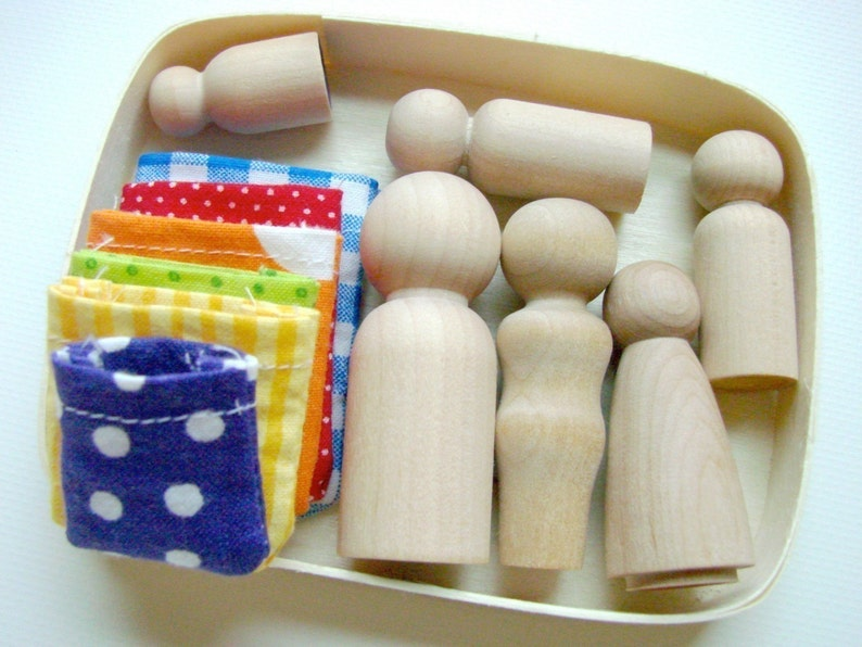 The Family Box  Wooden People Playset  A Montessori and image 0
