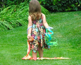 Flutter Fly Streamers - A Montessori and Waldorf Inspired Ribbon Dance Kite
