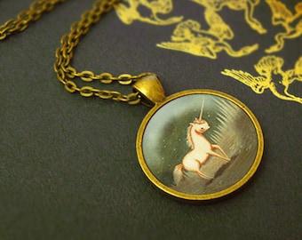 Unicorn Necklace, Unicorn Pendant, Unicorn Jewelry, Unicorn Animal Necklace, Animal Art, Animal Jewelry, Kids Jewelry Children  - Baby Pink