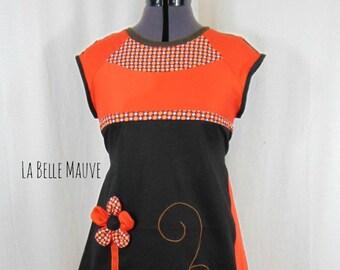 Kyriu dress orange and black
