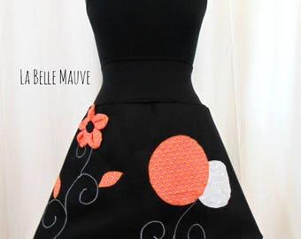 Chihiro skirt orange and black