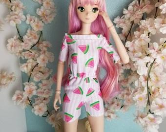 BJD SD Doll 60cm Watermelon jumpsuit shorts top Only 1