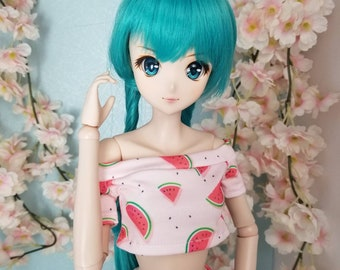 BJD SD Doll 60cm Watermelon Shoulder Crop Shirt OOAK