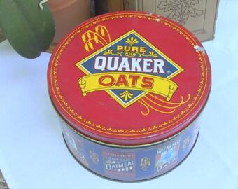 Round 1983 Quaker Oats Tin