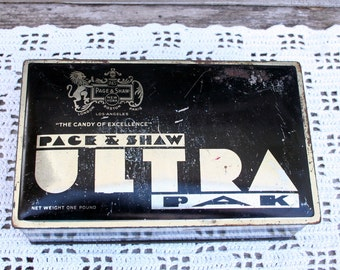Vintage Page and Shaw Ultra Pak Candy Tin