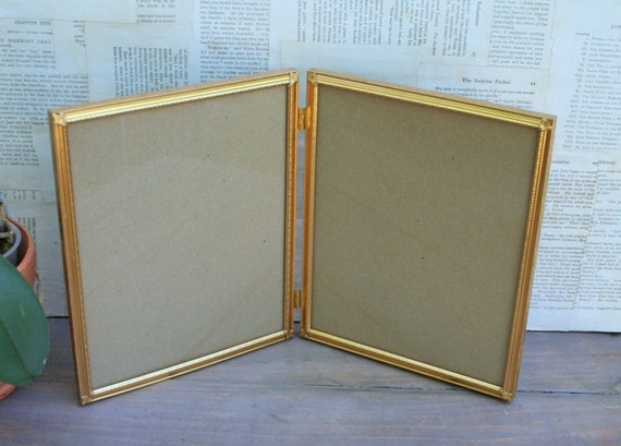 Vintage Double Gold Plated Metal Picture Frames Etsy