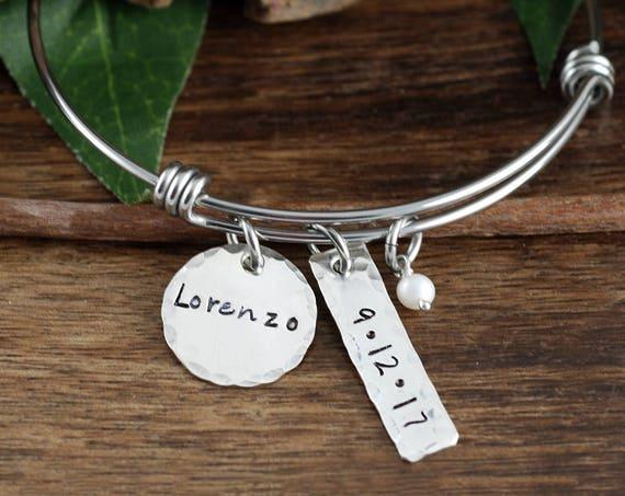 Mother's Charm Bracelet, Personalized Bracelet for Mom, Kids Name Tag Bracelet, Name Bracelet, Kids Name Bracelet, Gift for Mom