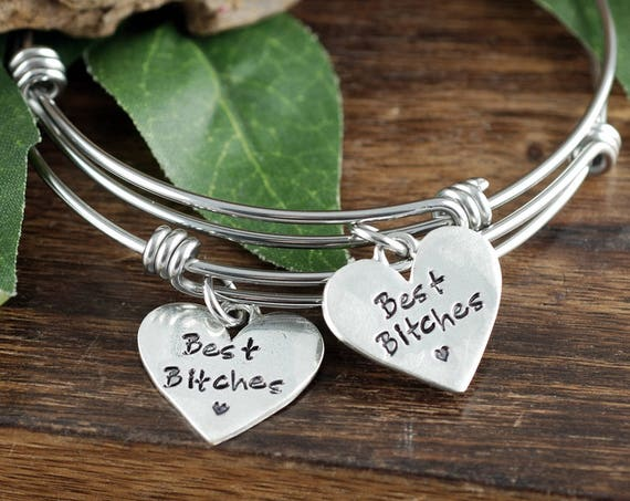 Best Bitches Bracelet Set, Best Friends Bracelet Jewelry, Gift for Best Friends, Bracelet Set for Friends, Bracelet for Best Friend